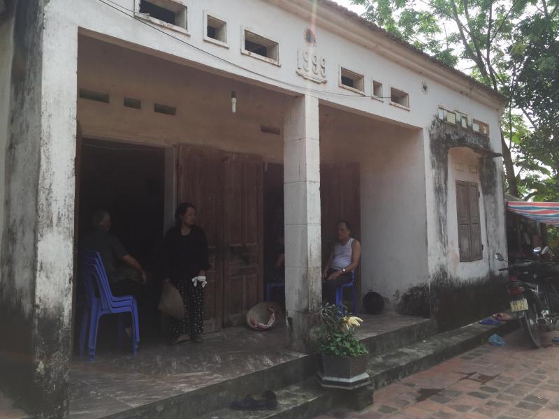 Ngôi nhà chị T., nơi xảy ra vụ việc chồng chém vợ trọng thương ở Phú Thọ