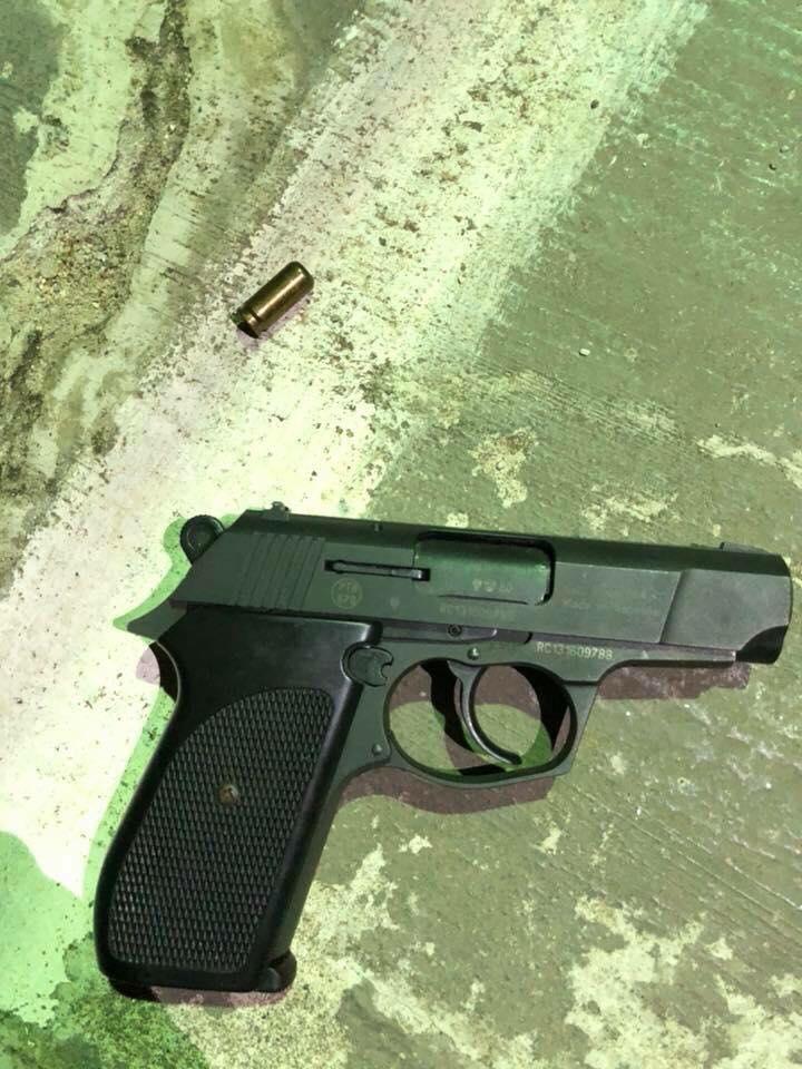Khẩu súng người đàn ông sử dụng đe dọa khi xảy ra mâu thuẫn.