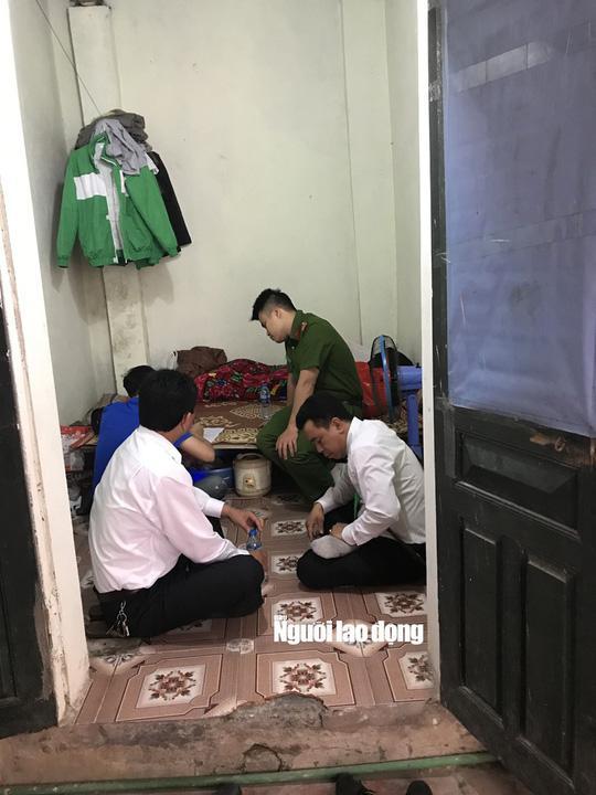 Lực lượng chức năng tới căn phòng trọ của tài xế Đinh Văn Điềm