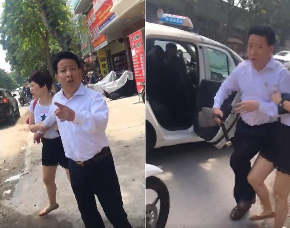Người này rút thắt lưng dọa đánh tài xế trước mặt mọi người.