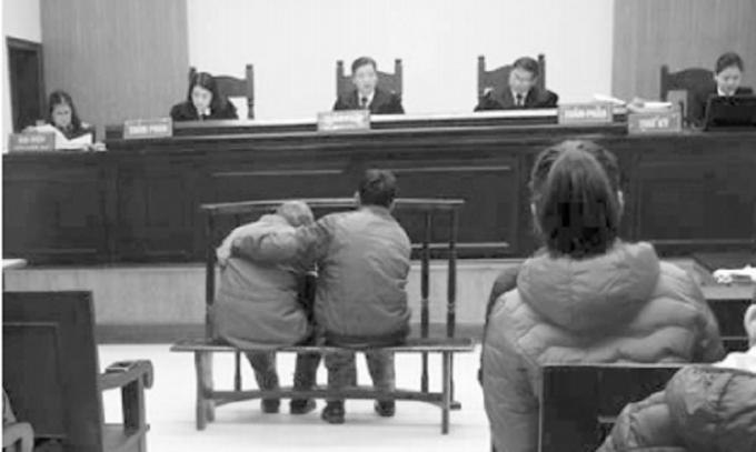 Phiên tòa phúc thẩm xét xử bị cáo Nguyễn Danh Vĩnh ngày 22/1/2018.