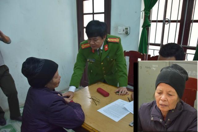 Bà Xuân tại cơ quan Cảnh sát điều tra Công an tỉnh Thanh Hóa