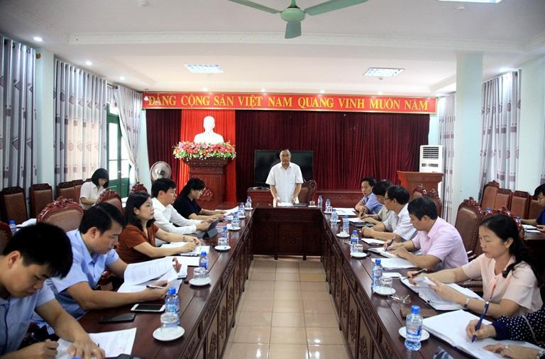Đồng chí Trần Thanh Oai, Trưởng Ban Văn hóa - Xã hội của HĐND tỉnh kết luận buổi giám sát. Ảnh: Dương Chung