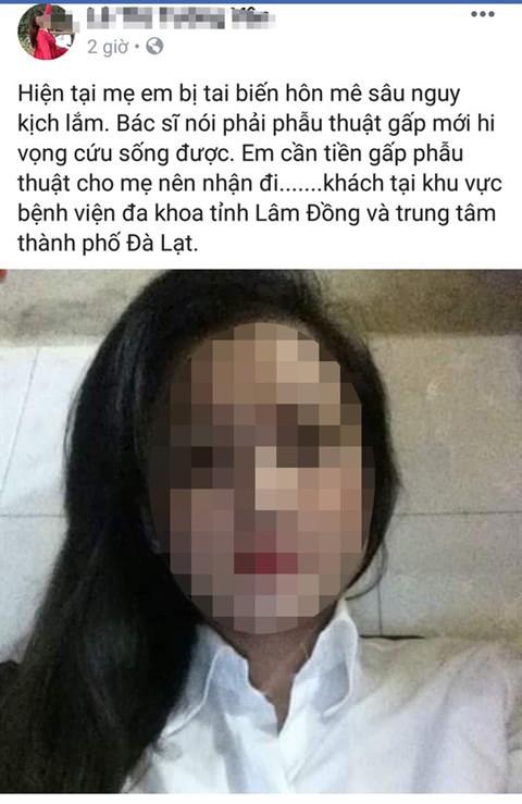 Bài đăng của cô gái trên trang cá nhân Facebook (Ảnh chụp màn hình)
