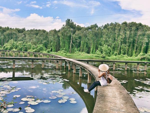 Rừng tràm Tân Lập được xem là một điểm sáng trong tương lai của du lịch Long An. (Nguồn: Fb Nguyễn Thị Vân Anh)