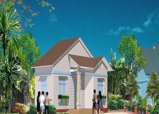 Một thiết kế hiện đại và đẹp với phần mái thái kiểu cách.