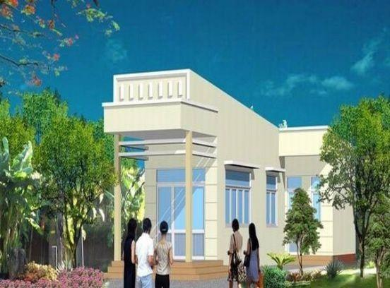 Ngôi nhà thông thoáng với thiết kế hình chữ L cùng nhiều cửa sổ rộng thoáng.