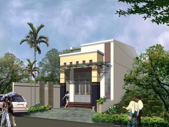Chỉ là mái tôn nhưng với chút điểm nhấn nơi mặt tiền khiến ngôi nhà nhỏ trở nên hiện đại và sang trọng.