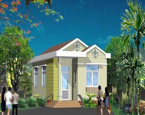 Căn nhà nhỏ xinh hai hòa với không gian xung quanh nhờ màu sơn mát mắt