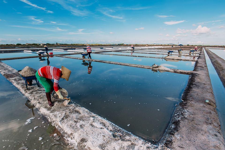 Đẹp ngỡ ngàng cánh đồng muối ở Bà Rịa - Vũng Tàu.