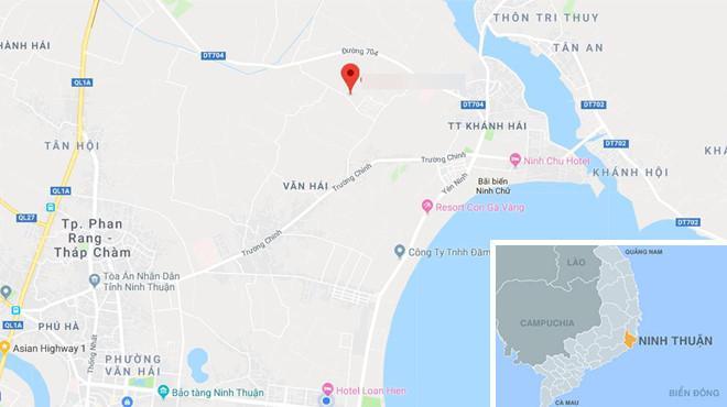 Khu phố 6, phường Văn Hải, nơi xảy ra sự việc. Ảnh: Google Maps.