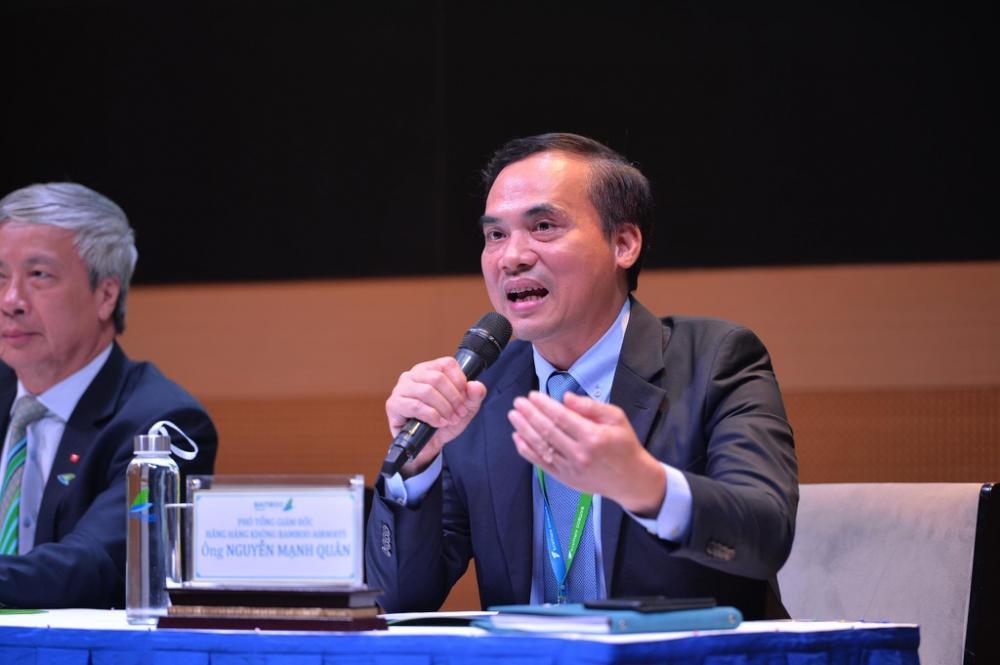 Ông Nguyễn Mạnh Quân, Phó tổng giám đốc của Bamboo Airways, cho biết giá vé bay thẳng Côn Đảo của hãng sẽ rất cạnh tranh, rẻ nhất ở mức 1,6 triệu đồng/chiều. Ảnh: BAV.