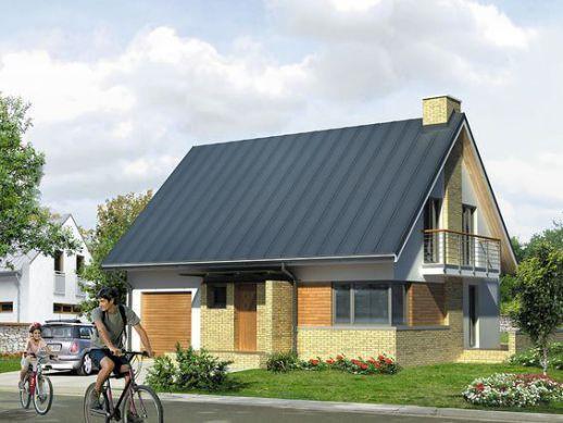 Mẫu nhà cấp 4 sử dụng gạch trần và lợp mái tôn tiết kiệm chi phí nhưng vẫn đẹp sang trọng. Ảnh: Internet.