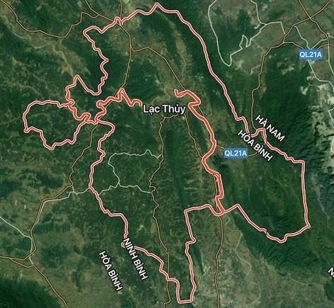 Vị trí khu sinh thái Lạc Thủy.