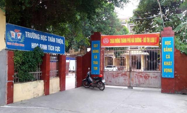 Trường THCS Lê Hồng Phong, nơi 2 nữ sinh đang theo học. Ảnh: Đ.Tùy