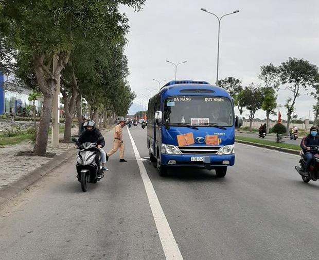 Chiếc xe khách liên quan đến vụ tai nạn.