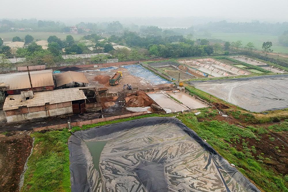 Toàn cảnh hệ thống xử lý nước thải nhà máy tinh bột sắn của Công ty Toàn Năng.